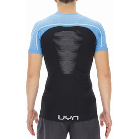 UYN Marathon Shortsleeve Shirt Men, blackboard/swedish blue/white